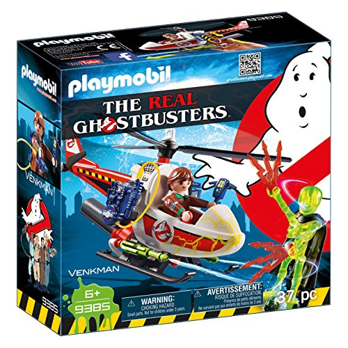 Image of the PLAYMOBIL Venkman with Helicopter Building Set
