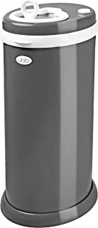 Ubbi Steel Odor Locking, No Special Bag Required, Money Saving, Modern Design, Registry Must-Have Diaper Pail, Slate