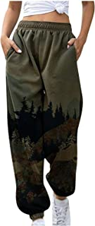 Pantalon de Chándal para Mujer Largos Pantalones,Pantalones Deportivos de Yoga con Bolsillo con Estampado de MontañA para ...