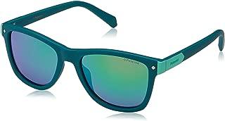 Girl's Pld8025s Polarized Rectangular Sunglasses, GREEN,...