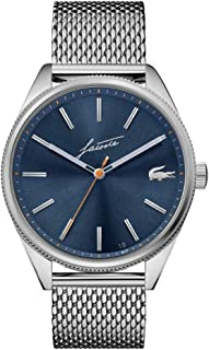 Lacoste Men's Heritage Quartz Watch with Stainless Steel Strap, Silver, 20 (Model: 2011053)