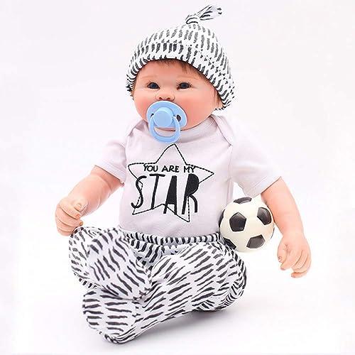 OTARDDOLL 50,8 cm 50,8 cm Reborn Baby-Puppe Fußball-Jungen, naturgetreue Nachbildung, Handbemalt, sch s Spielzeug, Geschenk zum Sammeln der Puppe, Ganz -Silikon, kann gewaschen Werden