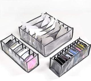 CENBEN 3pcs Boîtes de Rangement,Organisateur de Tiroir,Organisateur de sous-vêtements Boîtes de Rangement Pliables Tiroir ...