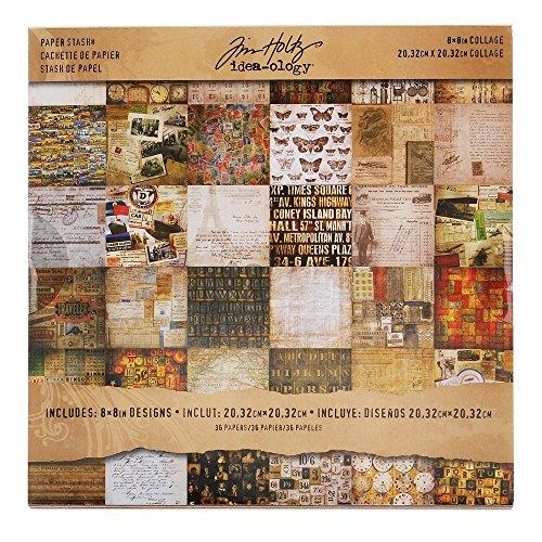 Etcetera Papel Stash by TimHoltz Idea-Ology, Beige, 20,32 cm x 20,32 cm