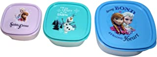Disney Frozen Food Storage Container with Lid, 1-Pack (3 Containers)