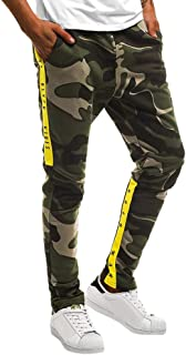 YOcheerful Men Jogger Pants Sweatpants Gym Sports Pant Camouflage Overalls Trouser Trunks