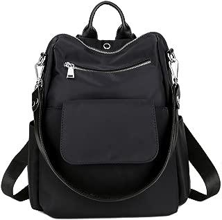 TOPSHINE Women Backpack Purse Water Resistant Nylon Ladies Rucksack with Earphone Hole Shoulder Bag