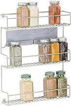mDesign Estantería metálica – Especieros de cocina
