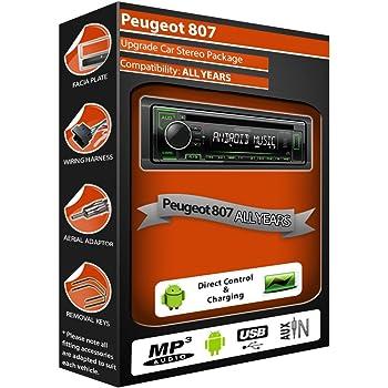 Peugeot 807/Radio CD est/éreo Cableado Loom de plomo adaptador ISO Cable Conversor