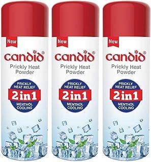 Candid Prickly Heat Powder 120g (Pack of 3), white
