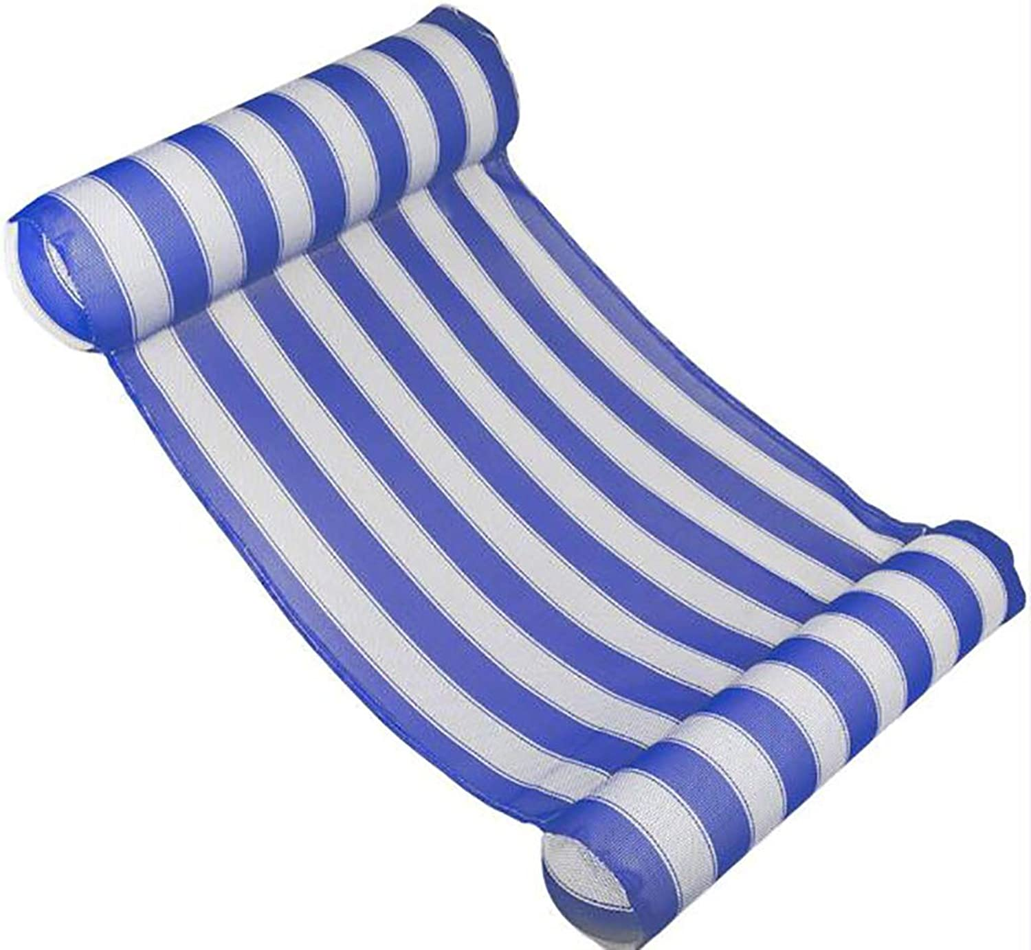 Swimming Pool Water Hammock, Lounge Float Hammock, Inflatable Raft Swimming Pool Lounger, with Headrest & Footrest,blueee