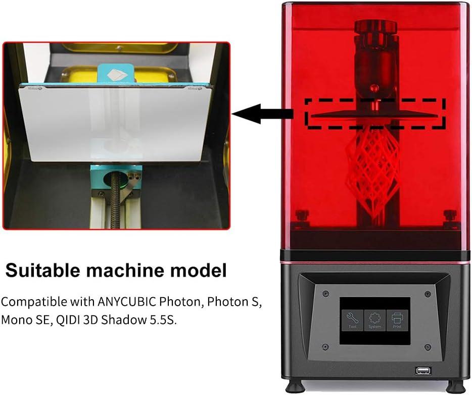 Festnight Harz 3D Drucker Druckerplatte Flexible Feder Stahlplatte Flex Bett und Magnetische Grundplatte Aufkleber mit Klebstoff Kompatibel mit ANY-CUBIC Photon//Photon S//Mono SE//QIDI 3D Shadow 5.5S
