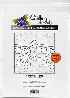 Quilting Creations Kandinsky Petite, 4-1/2 Inch Rows,UTA-1007 Urban Elementz Tear Away, 4 Pack