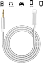 Aux Cable for Car, 3.5mm Male Aux Cord Adapter Headphones Jack Cable Compatible for iPods, iPads Cord with iPhone Xs/XS Max/X/8/8Plus/7/7Plus to Car Stereo/Speaker/Headphone Adapter Support All iOS