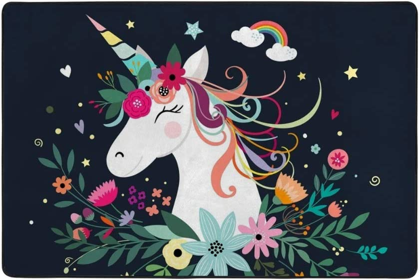 Save money My Little Nest New products, world's highest quality popular! Unicorn Wears Flowers Kids Mat Play Baby Crawling