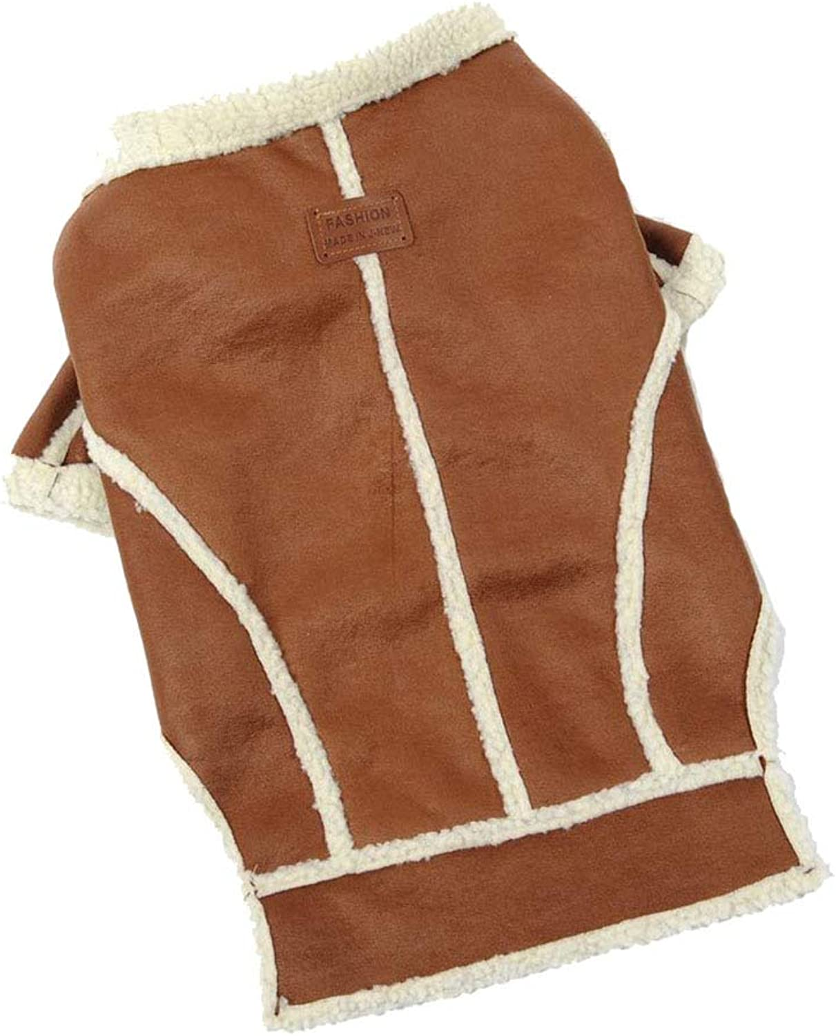 Big Dog Winter Cotton Coat Thick Warm Cold Predection Pet Outdoor Casual Jacket,Brown,5 Sizes,Brown3XLchestgirth(24.426.0in)