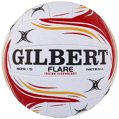 Gilbert Damen Flare Match Net Ball Einheitsgröße White/Red/Orange