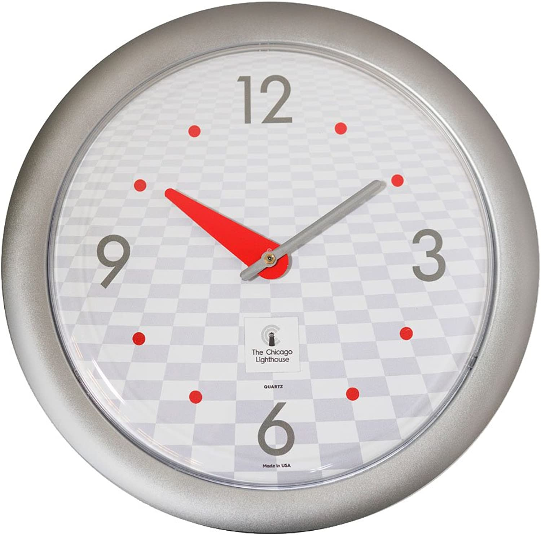 Blocks to the Future -Sleek Silver Frame-14  Fashion Wall Clock