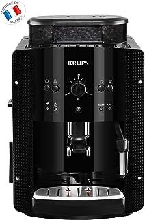 KRUPS ESSENTIAL NOIRE Machine à café à grain Machine à café broyeur grain Cafetière expresso 2 tasses Nettoyage automatiqu...