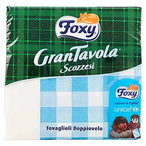 Foxy - Tovaglioli Doppiovelo, GranTavola Scozzesi, 42 Tovaglioli