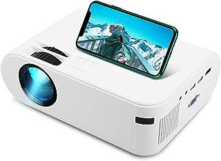 Mini projetor, Projetores de Vídeo LVOD 4000 Lumens, 1920 * 1080P LED Video Beamer compatível para espelhamento de telefon...