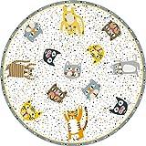 VILBER Kids Alfombra Vinilo Infantil Cats Color 10 Diámetro 78 cm. 2 Colores y 5 Medidas