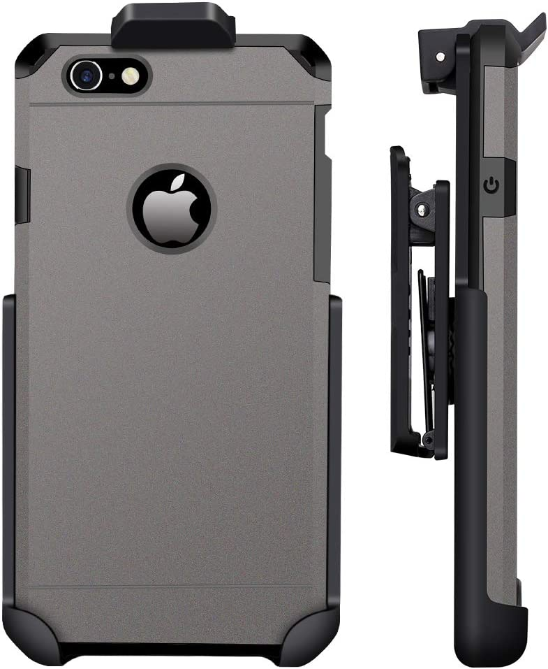 ImpactStrong Compatible for iPhone 6/6s - Belt Clip Case Heavy Duty Dual Layer Protection Cover and Holster Belt Clip Combo (Gun Metal)