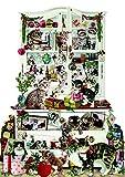 Alison Gardiner Coppenwath - Calendario dell'Avvento vittoriano in cartone con 24 porte apribili