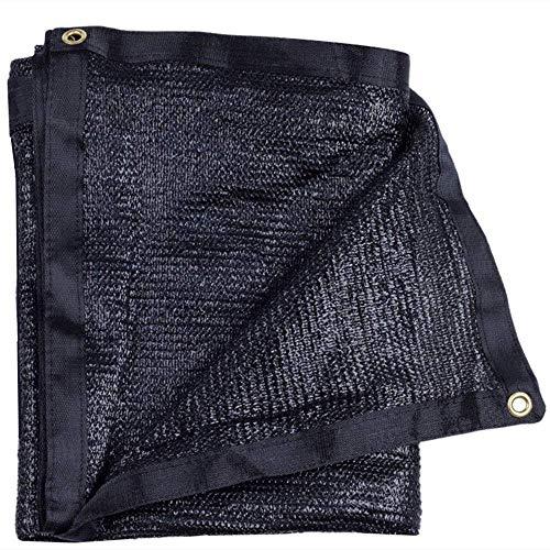 Sunblock Shade Cloth Net Black Resistente a los rayos UV, Lona de malla Garden Shade para cobertura vegetal, Invernadero, Granero o perrera, Panel de calidad de tela Top Shade para flores, plantas