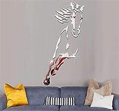 Universele muursticker muurschildering decoratie muur Paard Spiegel Creatieve 3D Crystal Acryl Effen Muurstickers Woonkame...