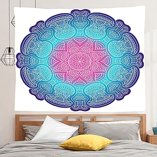 PPOU Mandala Tapiz Colgante de Pared Estilo Boho Fondo Tela Manta Tela Colgante Hippie Escena psicodélica Tapiz A4 100x150cm