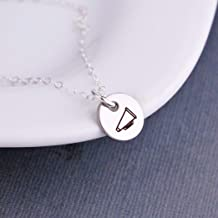 Tiny Silver Megaphone Necklace Cheerleader Jewelry Gift