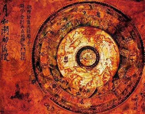 DINGDONG ART Imprimir En Lienzo 50x70cm Sin Marco Pirata del Caribe Mapa de Mao Kun Carteles de películas e Impresiones película Mapa del Tesoro Antiguo en la decoración del Arte de la Pared