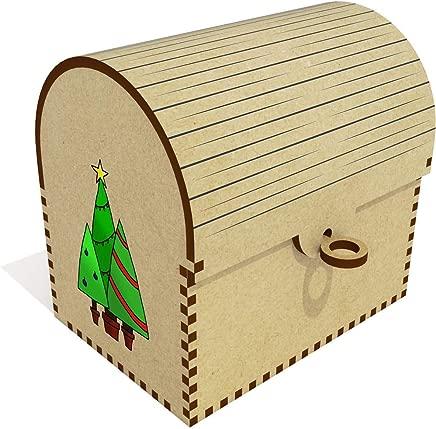 Azeeda  Christmas Trees  Treasure Chest Jewellery Box  TC00041039