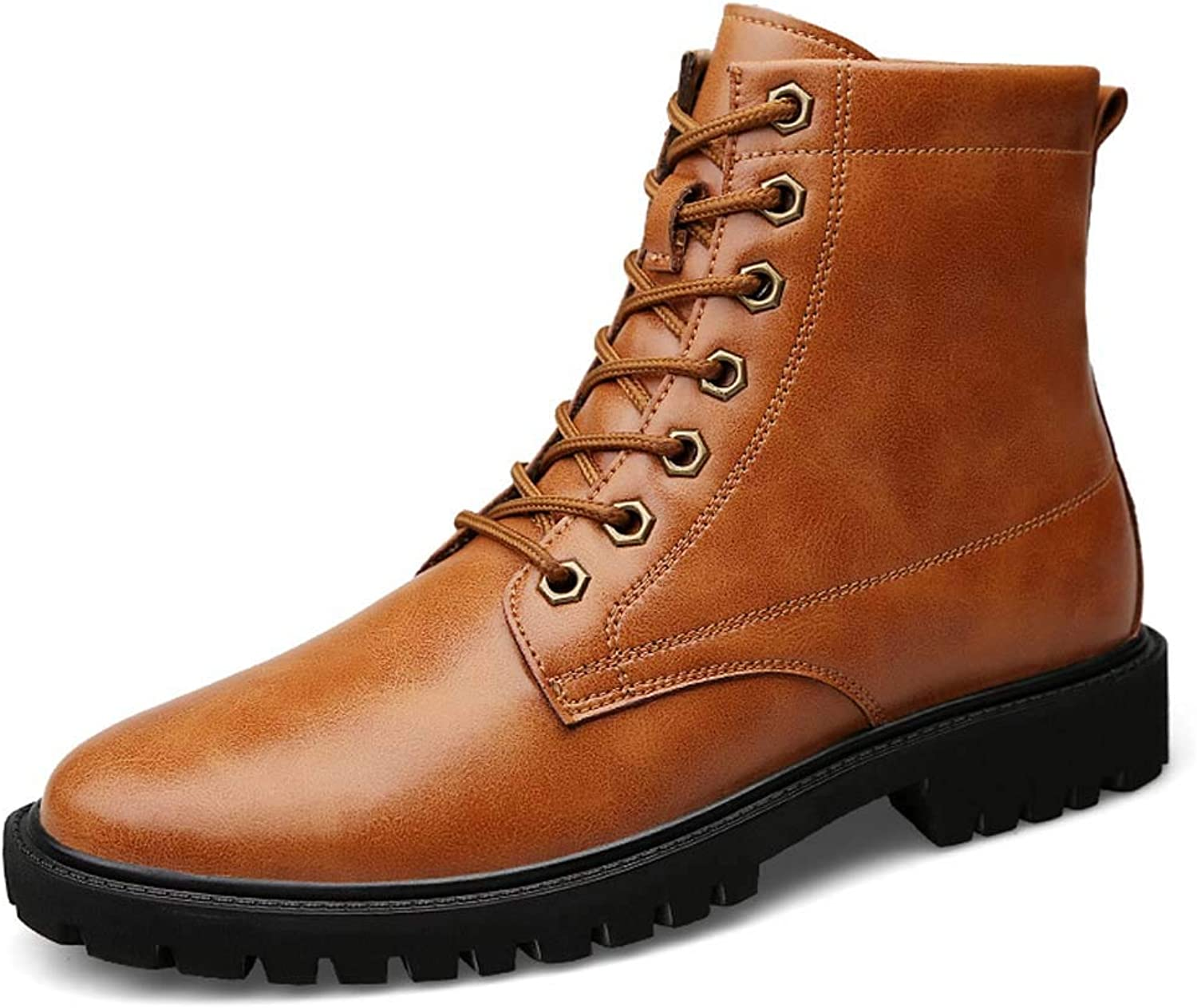 Men's Martin Boots Casual High-Top Leather Boots Fashion Warm Men's Boots