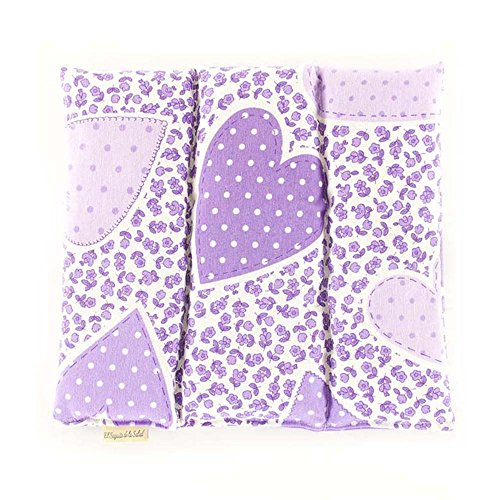 Saquito de la Salud Thermal Bag of Seeds Aroma Lavender Orange Blossom or Romero Fabric Flowers Lilacs 28 x 26 x 2 cm