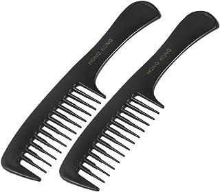 sourcingmap® 2 Piezas Peinado DIY Púas Más Anchas Plá