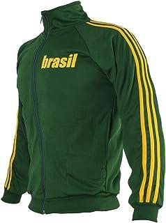 JL Sport Brazil Green Capoeira Zip-up Jacket Brasil Tracksuit Retro Design