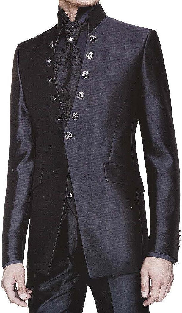 INMONARCH Mens Black Tuxedo Suit Reception 6 pc TX0275