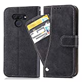Asuwish LG K50 Case, Leather Case Folding Protective Wallet