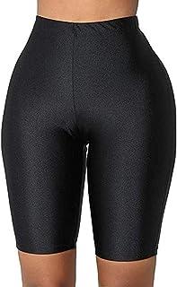 ICOOLTECH Women High Waist Stretch Biker Active Sports Running Gym Yoga Workout Knee Length Skinny Leggings Shorts