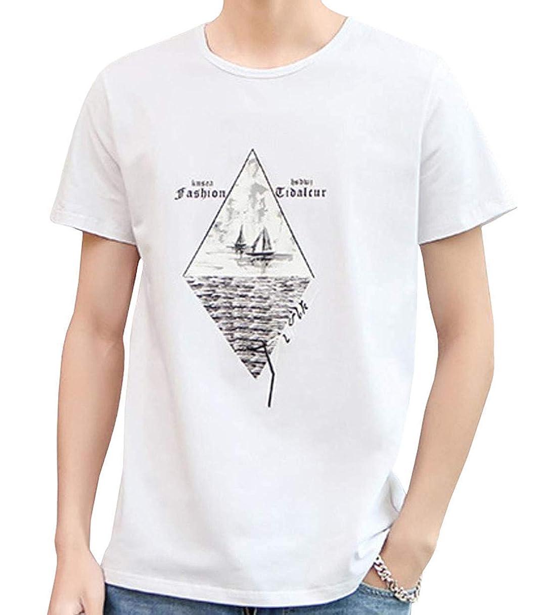 香り認識出来事[ Smaids x Smile (スマイズ スマイル) ] トップス Tシャツ 半袖 涼 薄 おしゃれ プリント カジュアル クルー メンズ