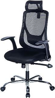 オーエスジェイ(OSJ)オフィスチェア パソコンチェア 145度 ロッキング固定機能 腰サポートクッション (ブラック)可動肘 静音PUキャスター HLC-0081-1