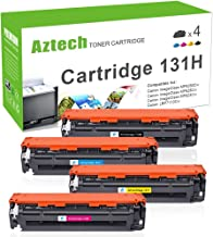 Aztech Compatible Toner Cartridge Replacement for Canon Cartridge 131 131H (Black, Cyan, Magenta, Yellow, 4-Packs)