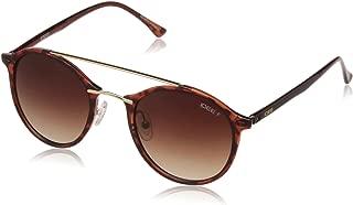IDEE Polarized Round Unisex Sunglasses - (IDS2216C3PSG 49 Brown Gradient Color)