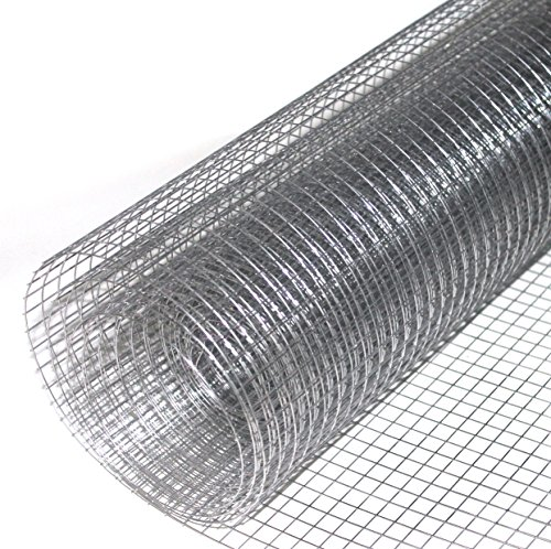 Volierendraht feuerverzinkt Drahtgitter Drahtgeflecht Zaun Maschendrahtzaun (Maschenweite 12,7x12,7 mm)