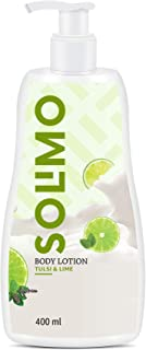 Amazon Brand - Solimo Tulsi & Lime Body Lotion, No Paraben, Sulphates, Phthlates, Mineral Oil, 100% Vegan, 400 ml