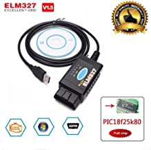 AORRO ELM327 Scanner OBD2 USB Adapter ELMconfig Forscan FoCCCus Diagnostic Scan Tool with MS-Can//HS-Can Switch