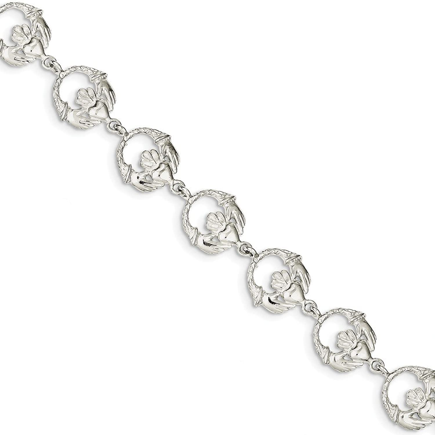 Beautiful Sterling silver 925 sterling Sterling Silver Claddagh Bracelet