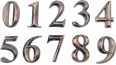 Dasing 10 stuks poortcijfers 0 tot 9 nummerplaat cijfers deur plaat huis lade plaat coating hotel huis adres deur etiket b...